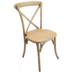Cross Back (X-back) Chair - Distressed White