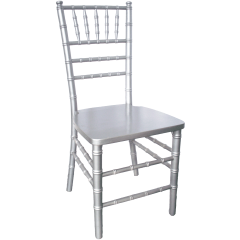 Wood Chiavari Chair - Silver