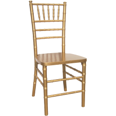 Wood Chiavari Chair - Gold