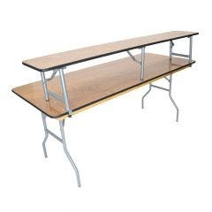Wood Folding Table - BAR TOP - for 8' banquet table