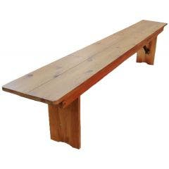 7ft Farm Table Bench-Light