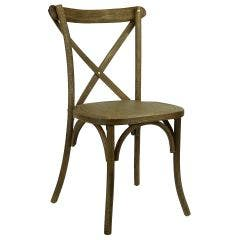 Cross Back (X-back) Chair - Black Grain